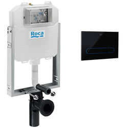 Roca Frames In Wall Frame, Dual Cistern & EP1 Electronic Panel (Black).
