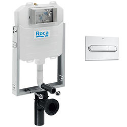 Roca Frames In-Wall  WC Compact Tank & PL1 Dual Flush Panel (Chrome).