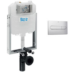 Roca Frames In-Wall WC Compact Tank & PL1 Dual Flush Panel (Grey).
