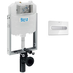 Roca Frames In-Wall WC Compact Tank & PL1 Dual Flush Panel (Combi).
