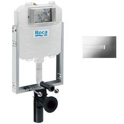 Roca Frames In-Wall WC Compact Tank & PL2 Dual Flush Panel (Chrome).