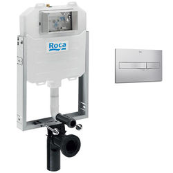 Roca Frames In-Wall WC Compact Tank & PL2 Dual Flush Panel (Grey).