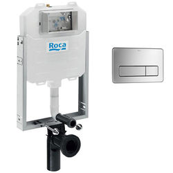 Roca Frames In-Wall WC Compact Tank & PL3 Dual Anti Vandal Panel (S Steel).