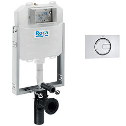 Roca Frames In-Wall WC Compact Tank & PL4 Dual Flush Panel (Chrome).
