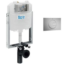 Roca Frames In-Wall WC Compact Tank & PL4 Dual Flush Panel (Grey).