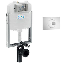 Roca Frames In-Wall WC Compact Tank & PL4 Dual Flush Panel (Combi).