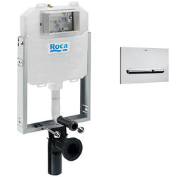 Roca Frames In-Wall WC Compact Tank & PL5 Dual Flush Panel (Chrome).