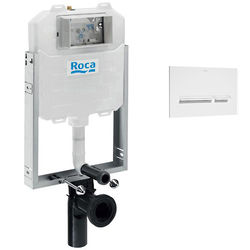 Roca Frames In-Wall WC Compact Tank & PL5 Dual Flush Panel (White).