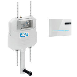 Roca Frames In Wall Dual Flush Cistern & EP2 Electronic Panel (White).