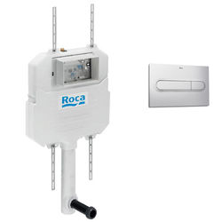 Roca Frames In-Wall Basic Compact Tank & PL1 Dual Flush Panel (Grey).