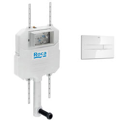 Roca Frames In-Wall Basic Compact Tank & PL2 Dual Flush Panel (White).