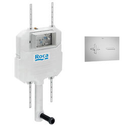 Roca Frames In-Wall Basic Compact Tank & PL6 Dual Flush Panel (Grey).