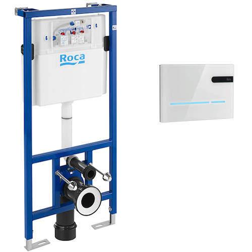 Roca Frames PRO WC Frame, Dual Cistern & EP2 Electronic Panel (White).