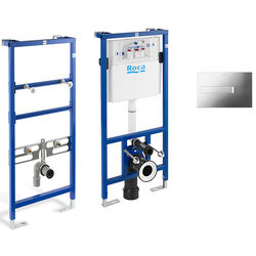 Roca Frames Basin & WC Frame With PL2 Dual Flush Panel (Chrome).