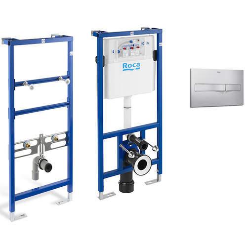 Roca Frames Basin & WC Frame With PL2 Dual Flush Panel (Grey).