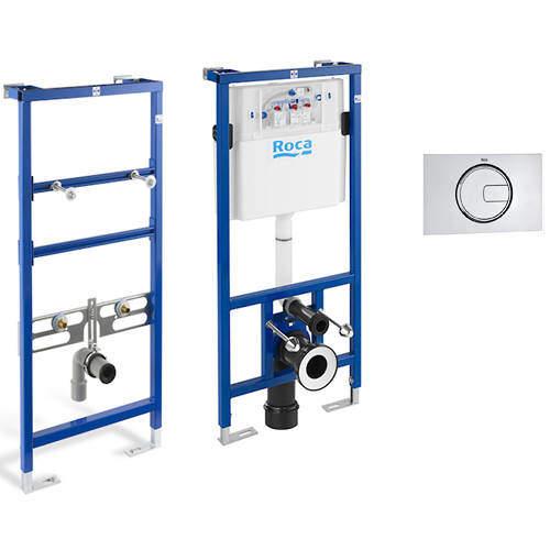 Roca Frames Basin & WC Frame With PL4 Dual Flush Panel (Chrome).
