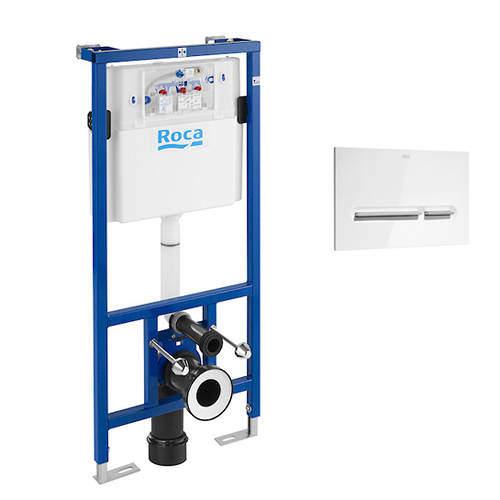 Roca Frames DUPLO WC Wall Hung Frame & PL5 Dual Flush Panel (Combi).