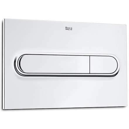 Roca Panels PL1 Dual Flush Operating Panel For Cisterns (Polished Chrome)