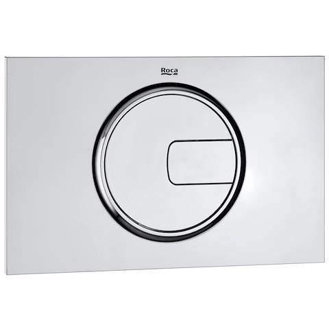 Roca Panels PL4 Dual Flush Operating Panel For Cisterns (Polished Chrome).