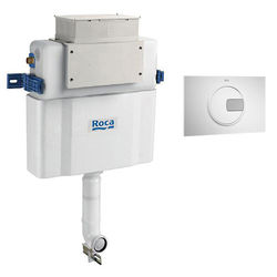 Roca Frames Low Height Concealed Cistern & PL4 Dual Flush Panel (Combi).
