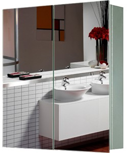 Roma Cabinets 2 Door Mirror Bathroom Cabinet. 600x670x130mm.