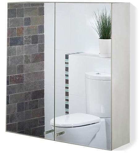 Roma Cabinets 2 Door Mirror Bathroom Cabinet. 600x670x120mm.