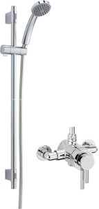 Sagittarius Ergo Exposed Shower Valve With Slide Rail Kit (Chrome).