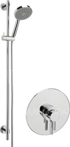 Sagittarius Ergo Concealed Shower Valve With Slide Rail Kit (Chrome).