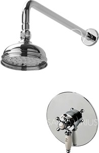 Sagittarius Fantasy Shower Valve With Arm & 130mm Head (Chrome).