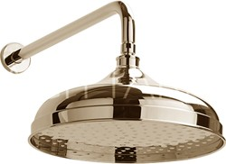 Sagittarius Richmond Traditional Shower Head With Arm (300mm, Gold).
