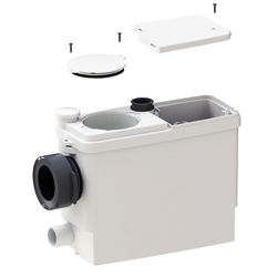 Saniflo Sanipack macerator for back to wall or wall hung WC.