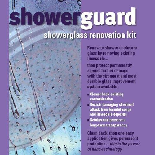 Showerguard Renovation Kit Refurbishes Existing Shower Enclosure Glass.