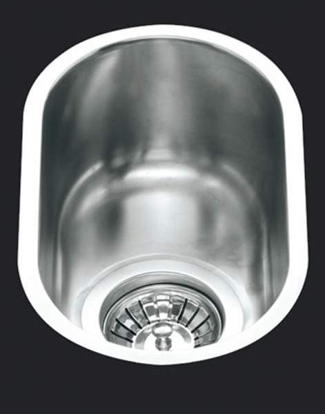 Smeg Sinks 1.0 Bowl Oval Stainless Steel Undermount Kitchen Sink. 160mm.