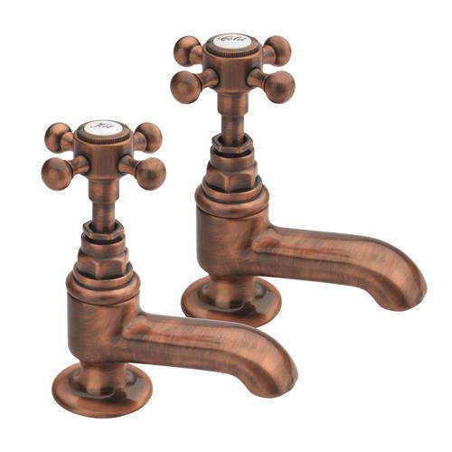 Tre Mercati Allora Bath Taps (Pair, Copper).