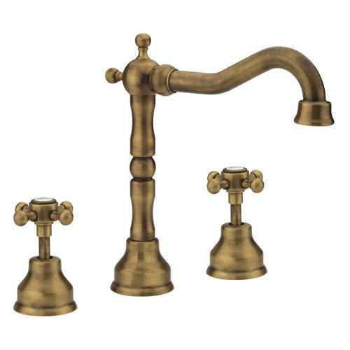 Tre Mercati Allora 3 Hole Basin Mixer Tap & Waste (Bronze).