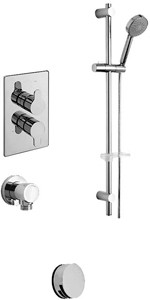 Tre Mercati Vamp Twin Thermostatic Shower Valve With Slide Rail & Bath Filler.