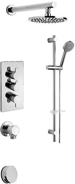 Tre Mercati Lollipop Thermostatic 3 Way Shower Set (Chrome).