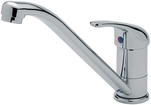 Tre Mercati Kitchen Luna Mono Sink Mixer Tap (Chrome).