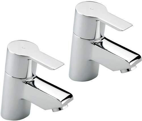 Tre Mercati Angle Basin Taps (Chrome).