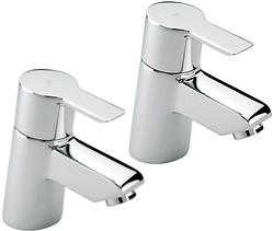 Tre Mercati Angle Bath Taps (Chrome).