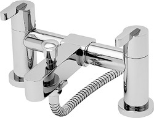 Tre Mercati Cabana Bath Shower Mixer Tap With Shower Kit (Chrome).