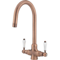 Tre Mercati Kitchen Little Venice Kitchen Tap With Swivel Spout (Copper).