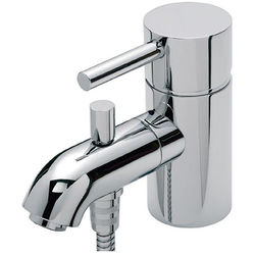 Tre Mercati Milan Mono Bath Shower Mixer Tap With Kit (Chrome).