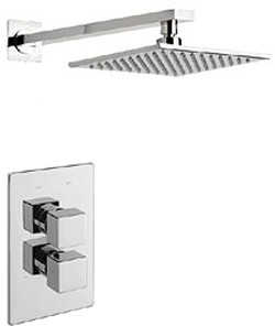 Tre Mercati Geysir Thermostatic Twin Shower Valve Wtih Head & Arm.