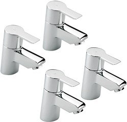 Tre Mercati Angle Bath & Basin Taps Set (Chrome).
