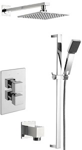 Tre Mercati Edge Twin Thermostatic Shower Valve With Slide Rail & Head.