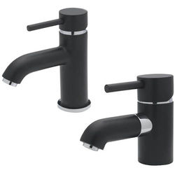 Tre Mercati Milan Mono Basin & Mono Bath Filler Tap Pack (Matt Black).