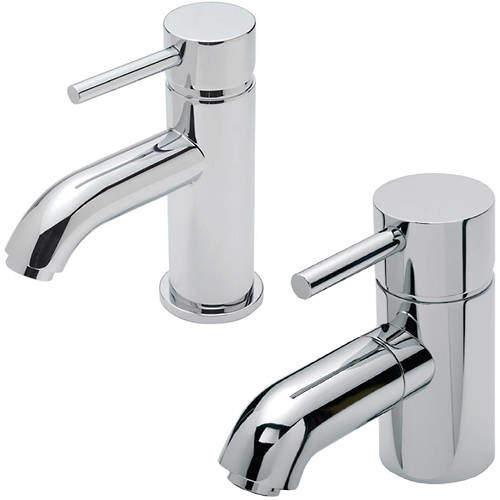 Tre Mercati Milan Mono Basin & Mono Bath Filler Tap Pack (Chrome).