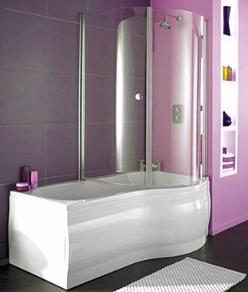 Thames Complete Shower Bath Right Hand 1700x750mm