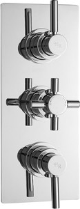 Hudson Reed Tec Triple Concealed Thermostatic Shower Valve With Diverter.